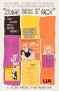 "Movie Posters:Comedy, Some Like It Hot (United Artists, 1959). Soundtrack One Sheet (27""X 41"").. ..."