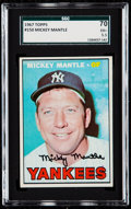 Baseball Cards:Singles (1960-1969), 1967 Topps Mickey Mantle #150 SGC 70 EX+ 5.5.. ...