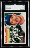 Baseball Cards:Singles (1950-1959), 1956 Topps Mickey Mantle (White Back) #135 SGC Authentic.. ...
