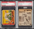 Baseball Cards:Lots, 1933 Goudey Rogers Hornsby and 1940 Play Ball Mel Ott PSA GradedPair (2).. ...