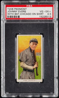 Baseball Cards:Singles (Pre-1930), 1909-11 T206 Piedmont Johnny Evers (With Bat, Chicago On Shirt) PSAVG-EX+ 4.5.. ...