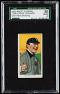 Baseball Cards:Singles (Pre-1930), 1909-11 T206 Sweet Caporal Hughie Jennings (One Hand Showing) SGC50 VG/EX 4.. ...