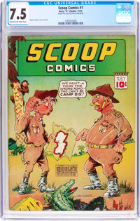 Scoop Comics #1 (Chesler, 1941) CGC VF- 7.5 Cream to off-white pages