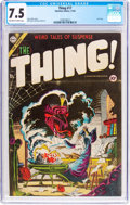 Golden Age (1938-1955):Horror, The Thing! #17 (Charlton, 1954) CGC VF- 7.5 Off-white to white pages....