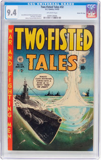Two-Fisted Tales #32 Gaines File Pedigree (EC, 1953) CGC NM 9.4 Off-white pages