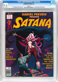 Marvel Preview #7 Satanna (Marvel, 1976) CGC NM+ 9.6 White pages