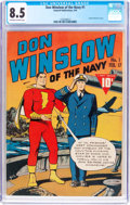 Golden Age (1938-1955):War, Don Winslow of the Navy #1 (Fawcett Publications, 1943) CGC VF+ 8.5Off-white to white pages....