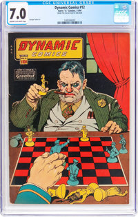 Dynamic Comics #12 (Chesler, 1944) CGC FN/VF 7.0 Cream to off-white pages