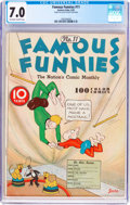 Platinum Age (1897-1937):Miscellaneous, Famous Funnies #11 (Eastern Color, 1935) CGC FN/VF 7.0 Off-white towhite pages....