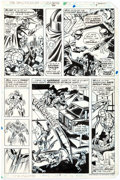 Original Comic Art:Panel Pages, Jim Mooney and Frank Springer Spectacular Spider-Man #26Story Page 5 Original Art (Marvel, ...