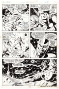 Original Comic Art:Panel Pages, Sal Buscema and Jim Mooney Thor #214 Story Page 11 OriginalArt (Marvel, 1973)....