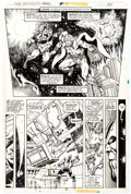 Original Comic Art:Panel Pages, Jim Starlin and Joe Rubinstein Avengers Annual #7 Story Page 28 Thanos, Adam Warlock, and Captain Mar-Vell Origina...