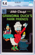 Silver Age (1956-1969):Cartoon Character, Four Color #1073 Grandma Duck's Farm Friends (Dell, 1960) CGC NM 9.4 Off-white to white pages....