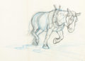 Original Comic Art:Miscellaneous, Carl Barks - Workhorse Preliminary Artwork Original Art(undated)....
