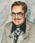 Don Wilcox - Forrest J. Ackerman Portrait Painting Original Art (undated) Comic Art