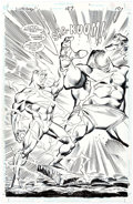 Original Comic Art:Splash Pages, Ron Frenz Superman #127 Internal Splash Page 10 Original Art(DC Comics, 1997)....