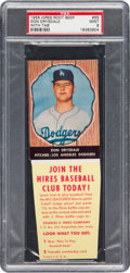 Baseball Cards:Singles (1950-1959), 1958 Hires Root Beer Don Drysdale #55 PSA Mint 9 - Pop Three, None Higher. ...