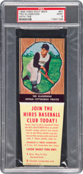 Baseball Cards:Singles (1950-1959), 1958 Hires Root Beer Ted Kluszewski #67 PSA Mint 9 - Pop Three,None Higher. ...