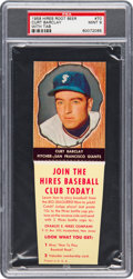 Baseball Cards:Singles (1950-1959), 1958 Hires Root Beer Curt Barclay #70 PSA Mint 9 - Pop Two, NoneHigher. ...