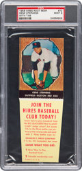 Baseball Cards:Singles (1950-1959), 1958 Hires Root Beer Gene Stephens #72 PSA Mint 9 - Pop Three, NoneHigher. ...