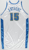 Basketball Collectibles:Uniforms, 2003-04 Carmelo Anthony Denver Nuggets Game Worn and Signed RookieJersey.. ...