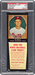 Baseball Cards:Singles (1950-1959), 1958 Hires Root Beer Rip Repulski #15 PSA Mint 9 - Pop One, NoneHigher! ...