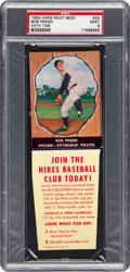 Baseball Cards:Singles (1950-1959), 1958 Hires Root Beer Bob Friend #24 PSA Mint 9 - None Higher. ...