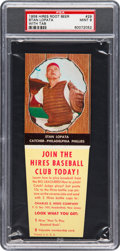Baseball Cards:Singles (1950-1959), 1958 Hires Root Beer Stan Lopata #29 PSA Mint 9 - None Hig...