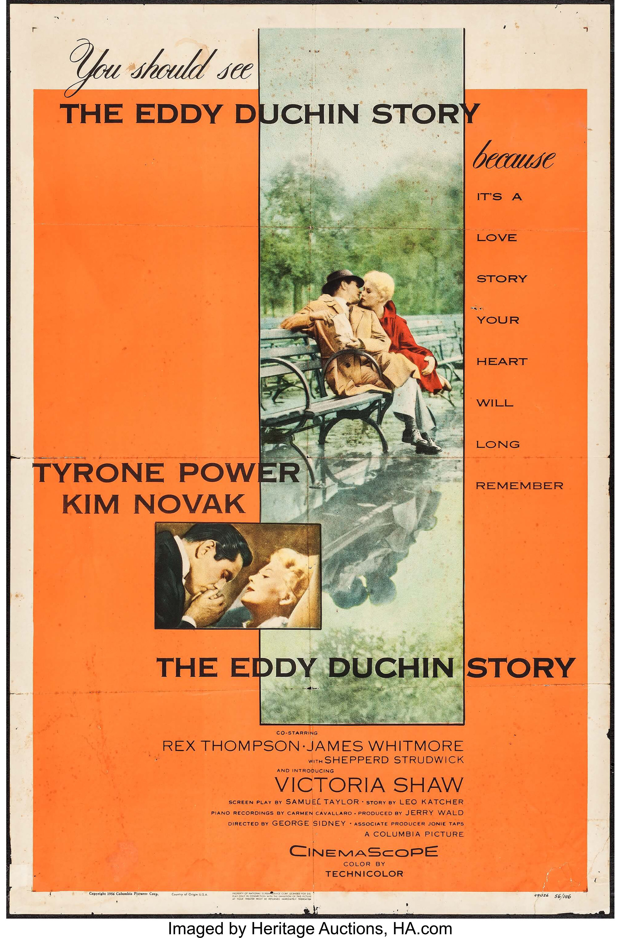 """The Eddy Duchin Story & Other Lot (Columbia, 1956). One Sheet (27"""" 