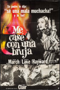 """Movie Posters:Fantasy, I Married a Witch (Grafica Alonso S.A., R-1960s). Argentinean Poster (28.5"""" X 42.5""""). Fantasy.. ..."""