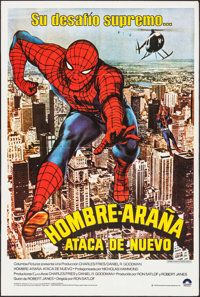 "Spider-Man Strikes Back (Columbia, 1978). Spanish One Sheet (29"" X 44""). Action"