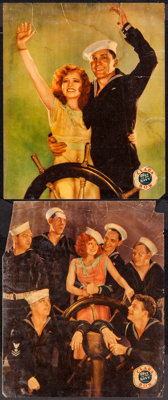 "True to the Navy (Paramount, 1930). Linen Finish Jumbo Lobby Cards (2) (14"" X 17""). Comedy. ... (Total: 2 Item..."