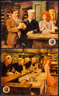 "Movie Posters:Comedy, True to the Navy (Paramount, 1930). Linen Finish Jumbo Lobby Cards(2) (14"" X 17""). Comedy.. ... (Total: 2 Items)"