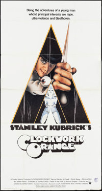 "A Clockwork Orange (Warner Brothers, 1971). International Three Sheet (41"" X 77""). Science Fiction"