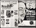 "Movie Posters:Drama, Lawyer Man (Warner Brothers, 1933). Uncut Pressbook (Multiple Pages, 11"" X 17""). Drama.. ..."