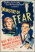 "Movie Posters:Film Noir, Ministry of Fear (Paramount, 1944). One Sheet (27"" X 40.5""). FilmNoir.. ..."