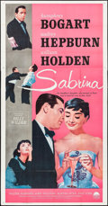 "Movie Posters:Romance, Sabrina (Paramount, R-1962). Three Sheet (41"" X 79""). Romance.. ..."