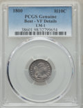 Early Half Dimes, 1800 H10C V-1, LM-1, R.3, -- Bent -- PCGS Genuine. VF Details. NGCCensus: (0/11). PCGS Population: (0/6). VF20. Mintage 40...