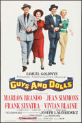 """Movie Posters:Musical, Guys and Dolls (MGM, 1955). One Sheet (28"""" X 42""""). Musical.. ..."""