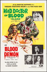 """Mad Doctor of Blood Island/Blood Demon Combo (Hemisphere Pictures, 1968). One Sheet (27"""" X 41""""). Horror"""