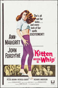 """Kitten with a Whip (Universal, 1964). Folded, Fine/Very Fine. One Sheet (27"""" X 41""""). Bad Girl"""