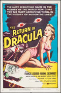"Movie Posters:Horror, The Return of Dracula (United Artists, 1958). One Sheet (27"" X 41""). Horror.. ..."