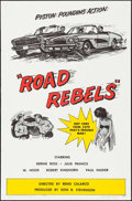 "Movie Posters:Action, Road Rebels (Starlite-Henrietta, 1964). One Sheet (27"" X 41"").Action.. ..."