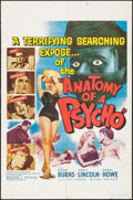 "Movie Posters:Crime, Anatomy of a Psycho (Unitel, 1961). One Sheet (27"" X 41""). Crime....."