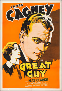 "Great Guy (Grand National, 1936). One Sheet (27.5"" X 41.25""). Drama"