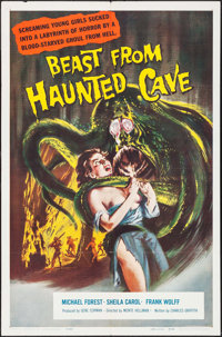 """Beast from Haunted Cave (Filmgroup, 1959). One Sheet (27"""" X 41""""). Horror"""