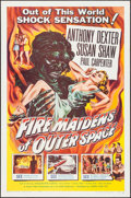 "Movie Posters:Science Fiction, Fire Maidens of Outer Space (Topaz, 1956). One Sheet (27"" X 41"").Science Fiction.. ..."
