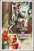 """Movie Posters:Science Fiction, The Electronic Monster (Columbia, 1960). One Sheet (27"""" X 41"""").Science Fiction.. ..."""