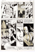 Rick Hoberg, Bill Wray, and Dave Stevens What If? #16 Partial Story Original Art Comic Art