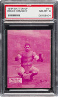 Baseball Cards:Singles (1930-1939), 1934-36 Batter-Up Rollie Hemsley #71 PSA NM-MT 8 - None Higher. ...